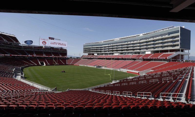 The 49ers announced Thursday the appointment of Al Guido as team president and Paraag Maathe as executive vice president of football operations, chief strategy officer and a managing partner. (Eric Risberg/AP)