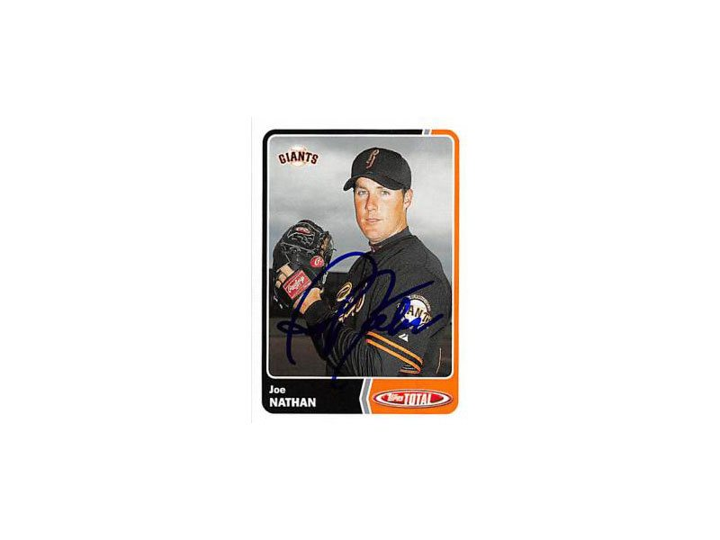 Joe Nathan will be returning to the San Francisco Giants on a minor league contract. (Courtesy Topps)