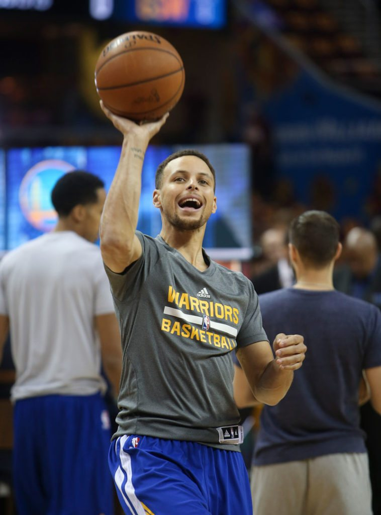Stephen Curry is not going to let any slight slide. (Ron Schwane/AP)