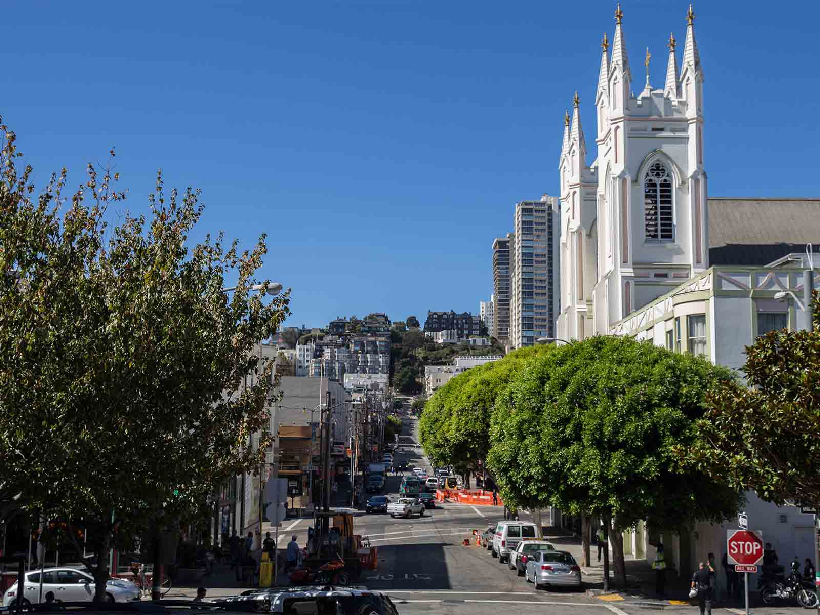 "The proposed ""Piazza Saint Francis, The Poets Plaza"" would span Vallejo Street between Columbus and Grant avenues in San Francisco's North Beach neighborhood. (Daniel Kim/Special to S.F. Examiner)"