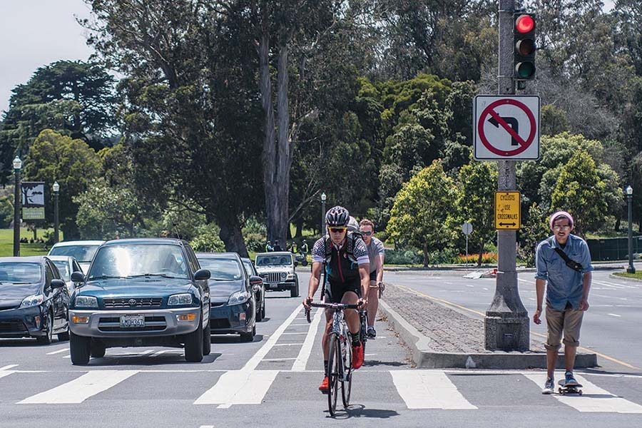 Arguments in favor of Proposition R said the measure would increase Police Department bike patrols, but one bicyclist says that language is misleading. (Michael Ares/Special to S.F. Examiner)