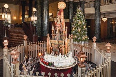 Courtesy photoJean-Francois Houdre's 15-foot rotating holiday sugar castle resembles a French chateau.