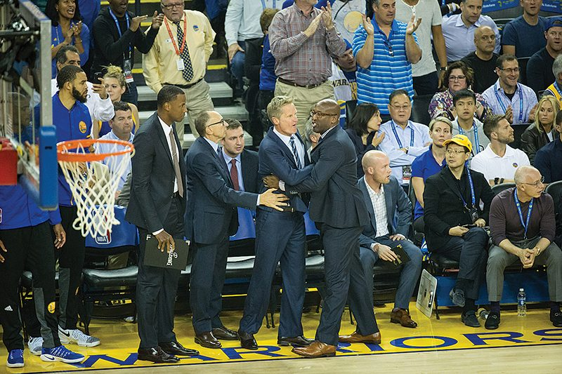 Steve Kerr and Mike Brown. (Stan Olszewski/Special to S.F. Examiner)