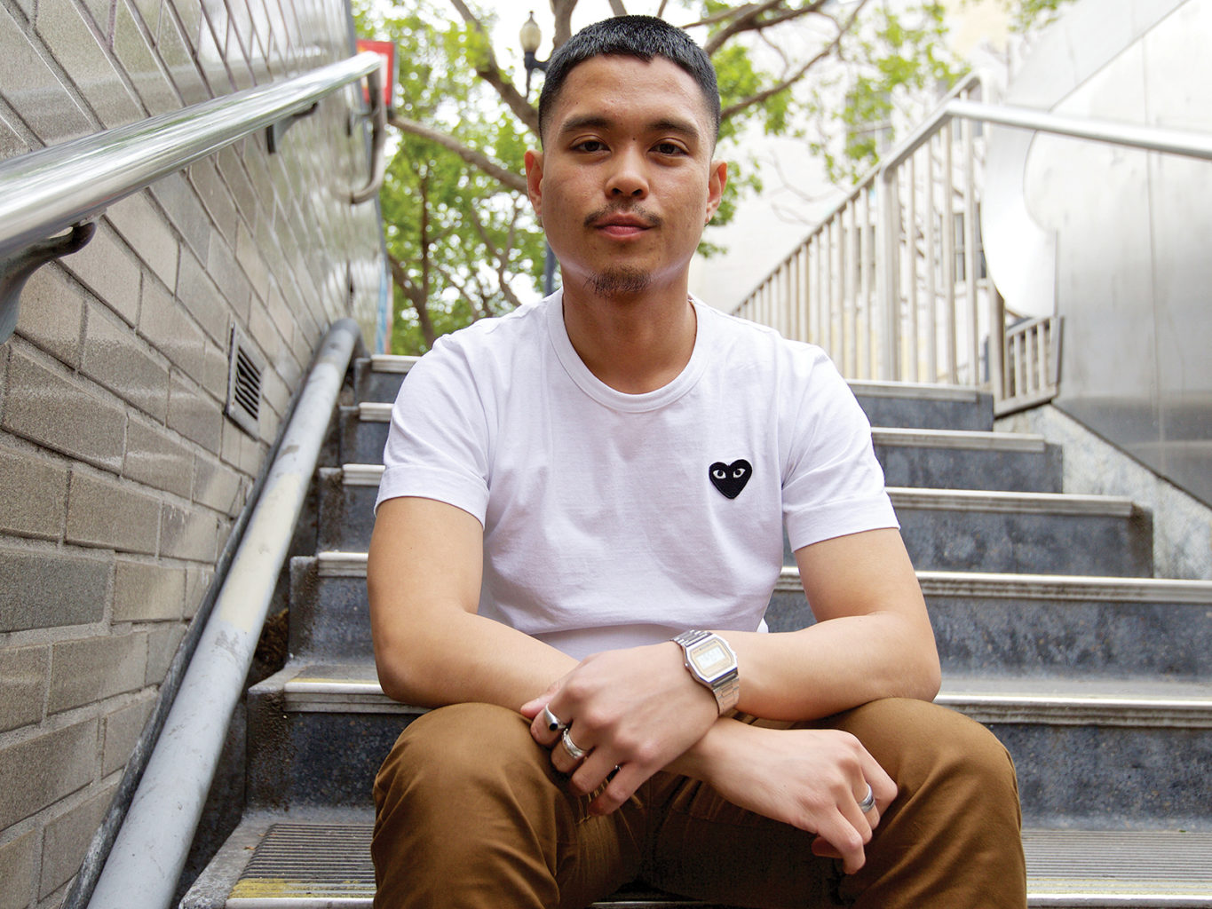 S.F. State student Jose Francisco brought attention to an inequity in health services after being denied a free screening because of his sexual orientation. (Kevin N. Hume/S.F. Examiner)