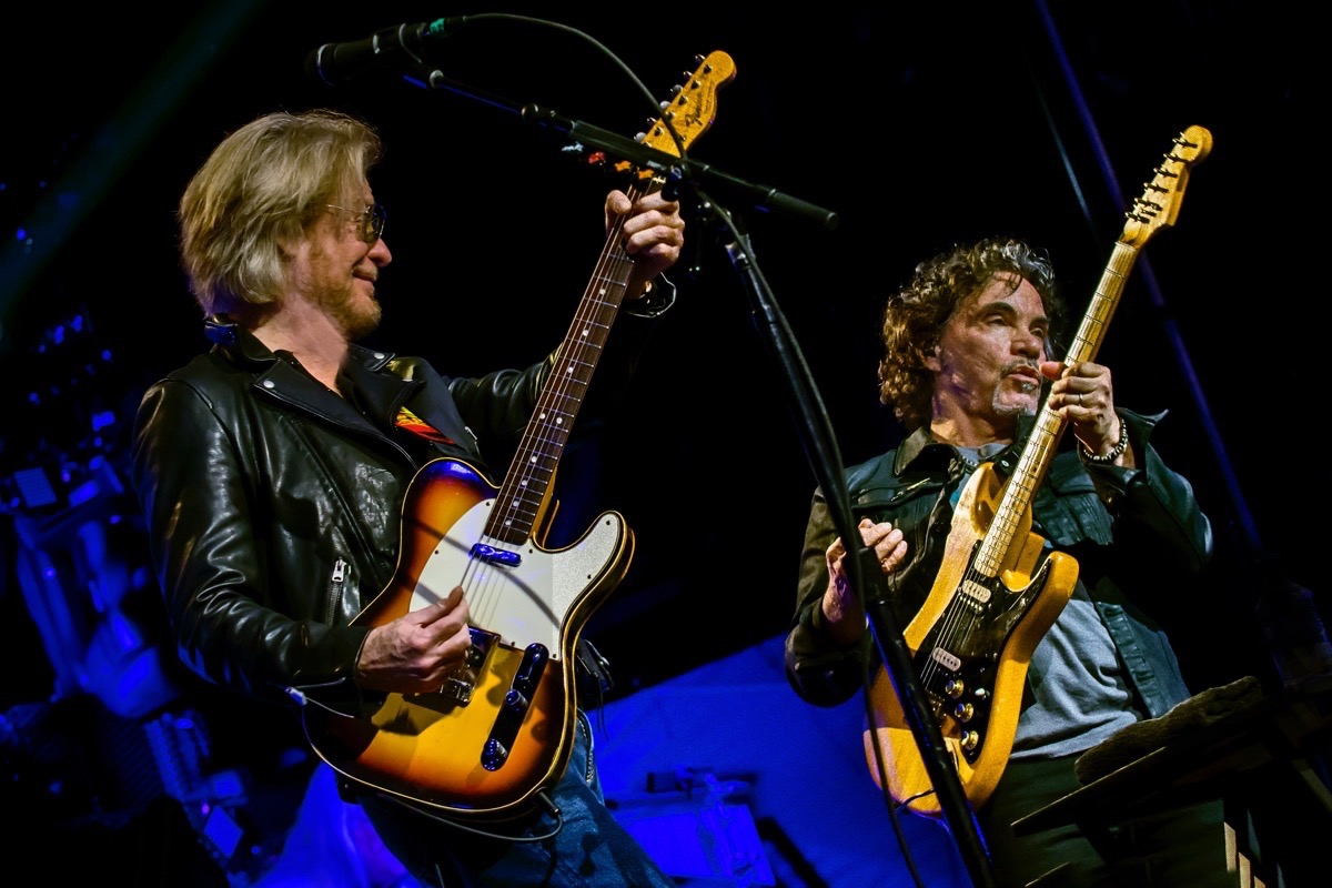 Daryl Hall, left, and John Oates play the Oracle Arena on Tuesday, with Train. (Courtesy Stuart Berg)