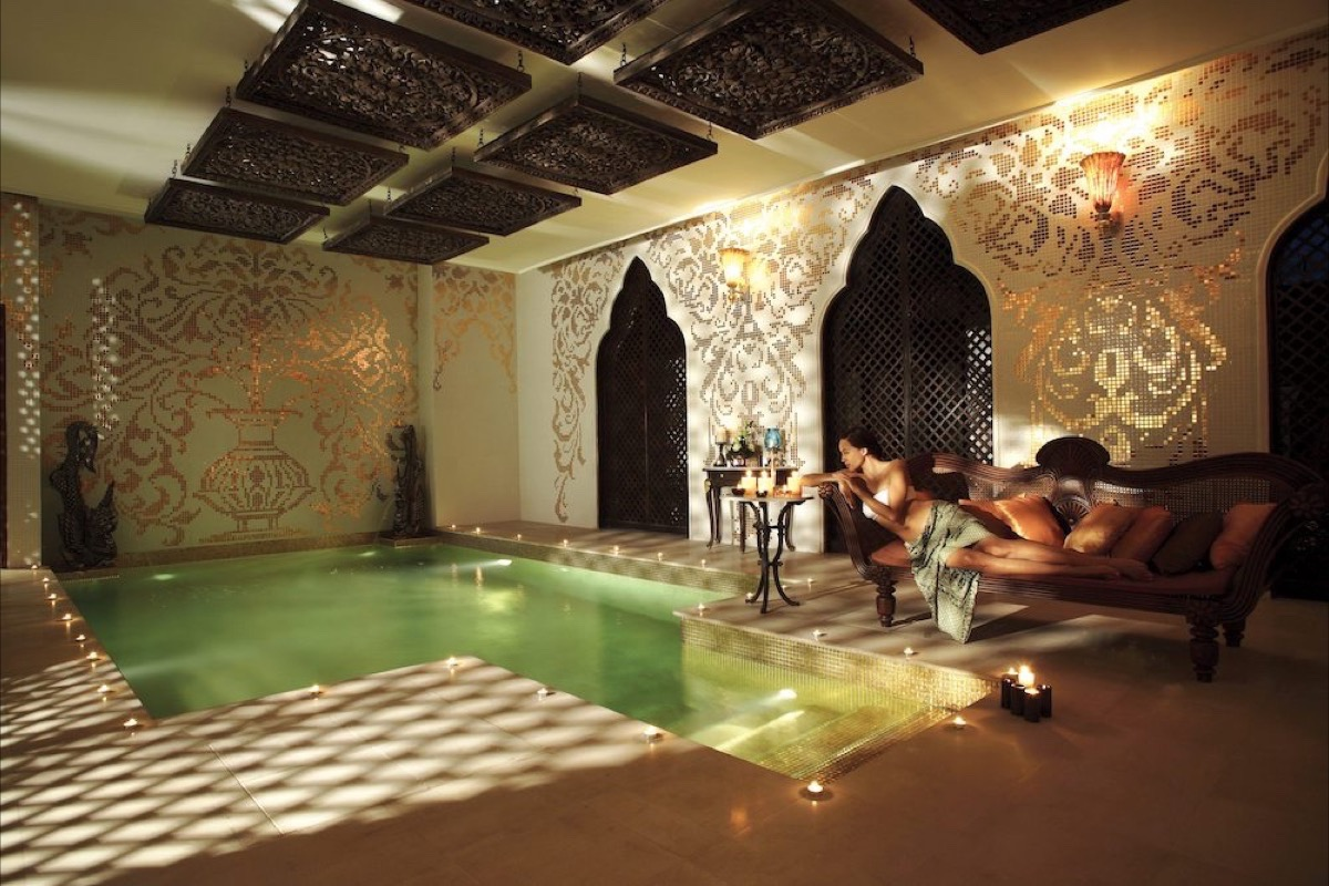 The spa at Dhara Dhevi in Chiang Mai brings a watsu (water therapy) pool for added