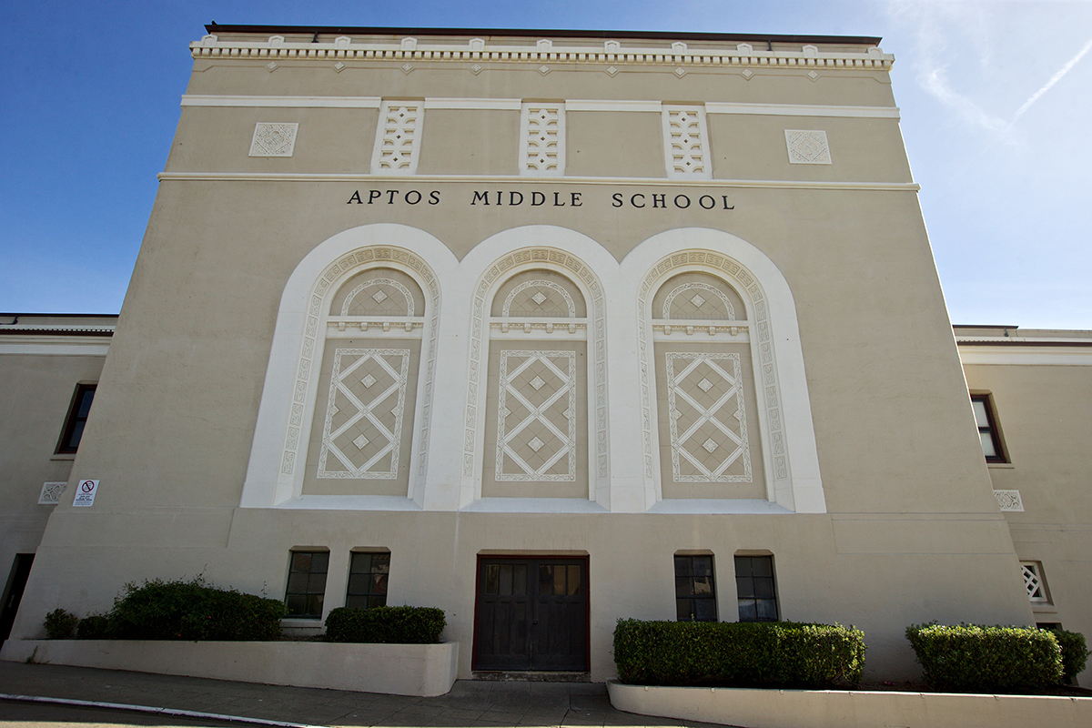 Aptos Middle School on Wednesday, Oct. 31, 2018. A male coach at the school has been accused of sexually harassing female students. (Kevin N. Hume/S.F. Examiner)