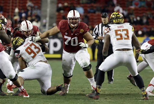 Marcio Jose Sanchez/AP PhotoAndrus Peat (70) is forgoing his final season of eligibility at Stanford to enter the NFL draft.