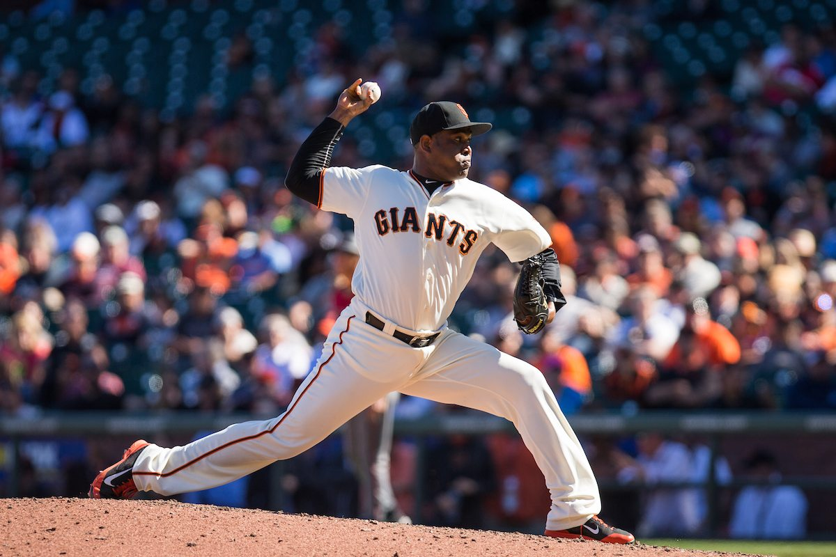 Santiago Casilla, seen here Aug. 31, blew another save opportunity on Saturday. (Stan Olszewski/Special to S.F. Examiner)