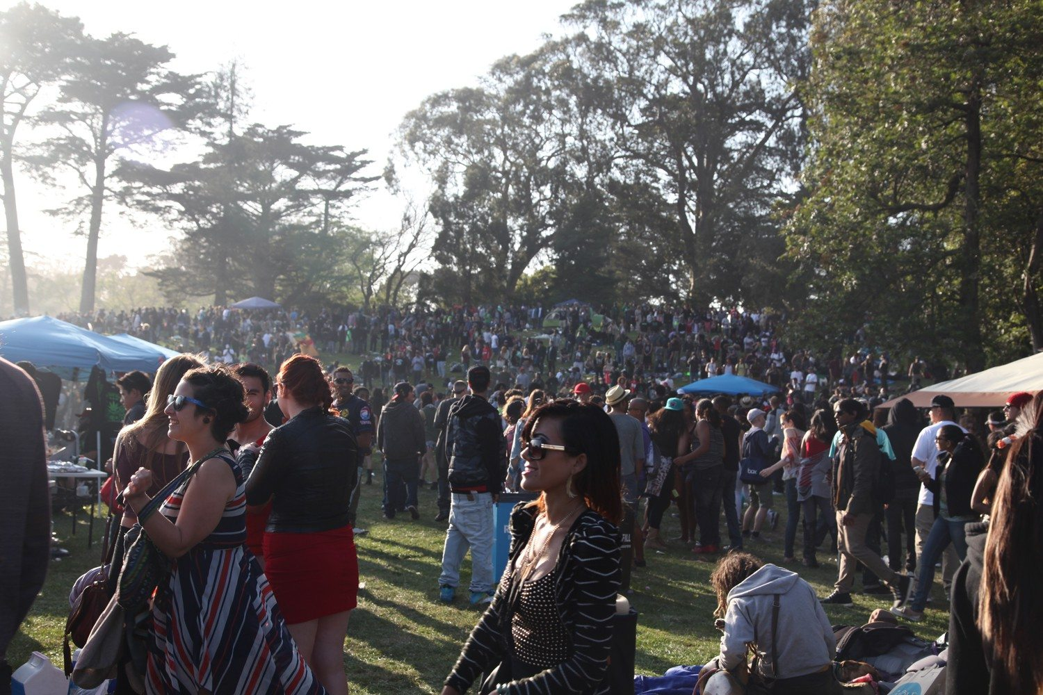 Juan Pardo/special to the S.F. ExaminerRevelers celebrate 4/20 at Hippie Hill in Golden Gate Park.