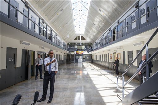 President Barack Obama speaks at the El Reno Federal Correctional Institution,  in El Reno, Okla., Thursday, July 16, 2015. (Evan Vucci/AP Photo)
