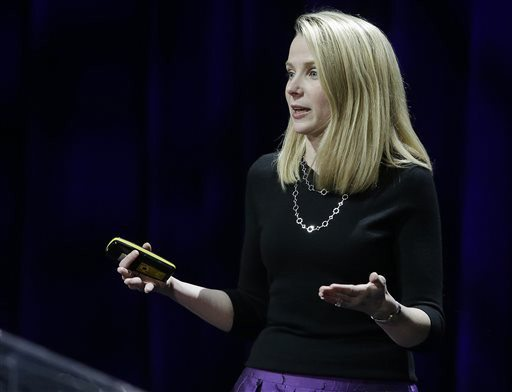 AP Photo/Eric RisbergYahoo President and CEO Marissa Mayer delivers the keynote address at the first-ever Yahoo Mobile Developer Conference Thursday
