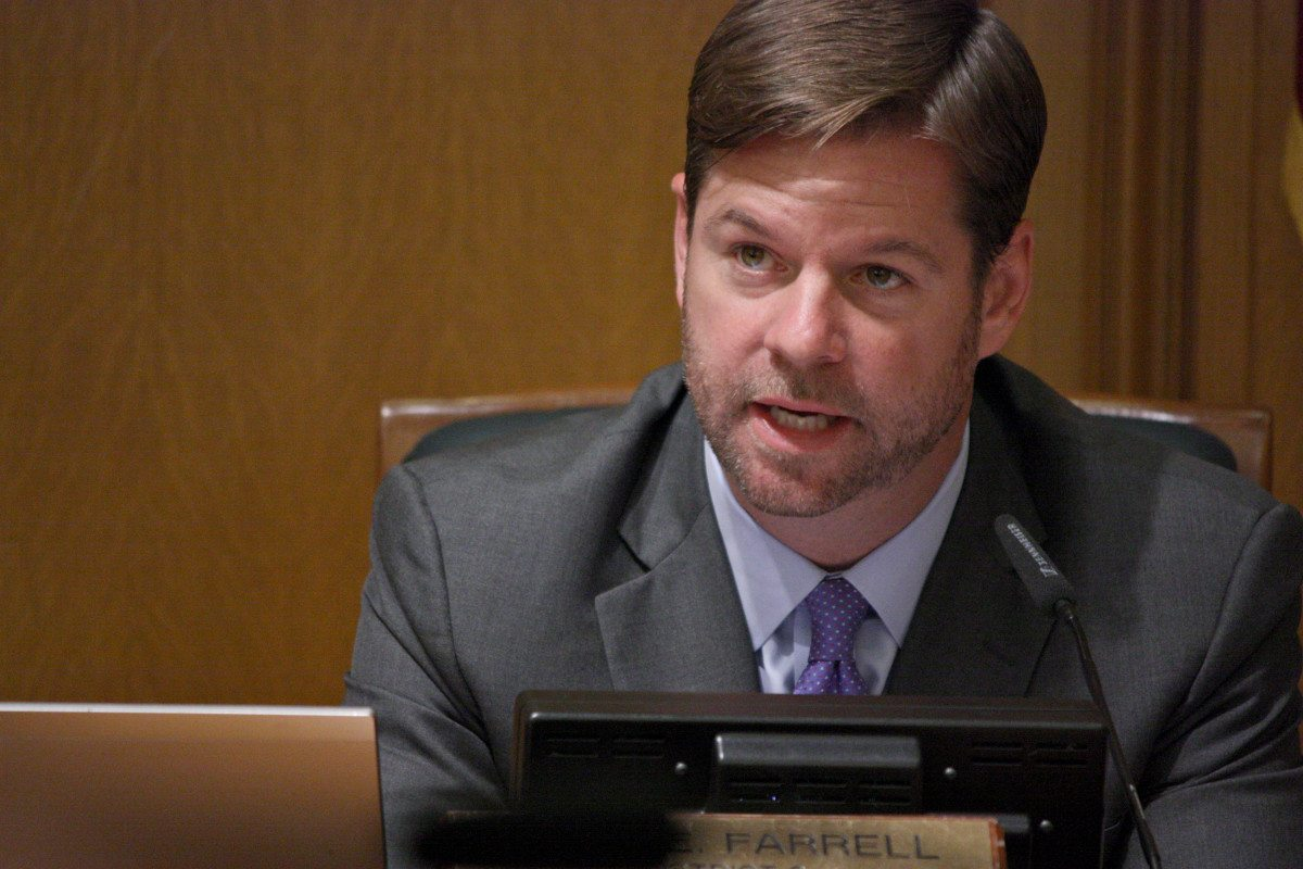 Supervisor Mark Farrell states his position at City Hall on October 1, 2015. (Kevin Kelleher/Special to S.F. Examiner)