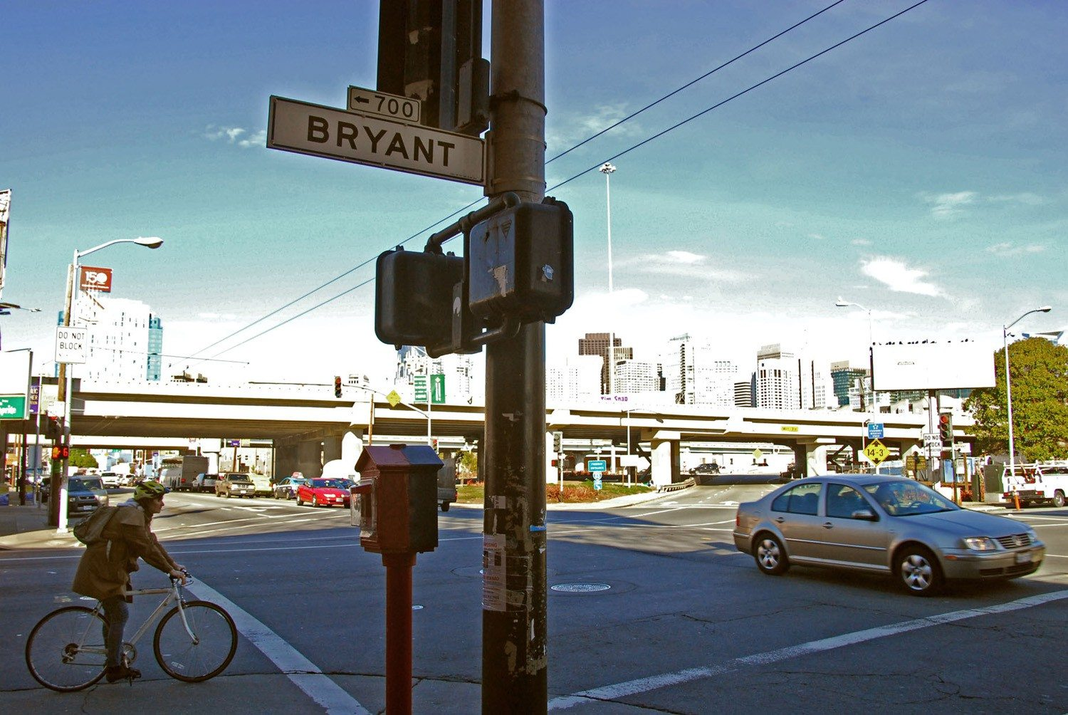 EVAN DUCHARME/SPECIAL TO THE  S.F. EXAMINERA cyclist was seriously injured at the intersection of Fifth and Bryant streets.