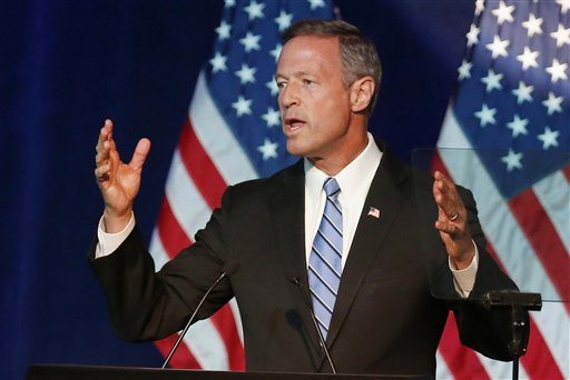 In this photo taken Aug. 28, 2015, Democratic presidential candidate, former Maryland Gov. Martin O'Malley speaks in Minneapolis. (AP Photo/Jim Mone)