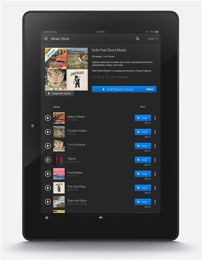 AP Photo/AmazonThis product image released by Amazon features the company's new Prime Music streaming service. Starting Thursday