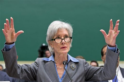 J. Scott Applewhite/APHealth and Human Services Secretary Kathleen Sebelius gestures while testifying on Capitol Hill in Washington