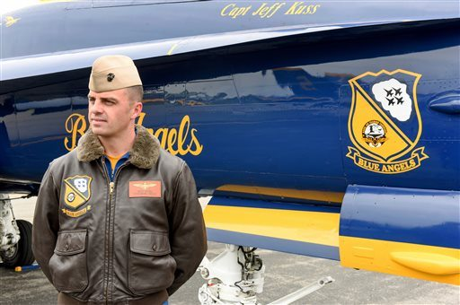 Marine Capt. Jeff Kuss was killed Thursday when his plane crashed during a practice for a air show performance. (Matt Bell/The Register & Bee via AP)
