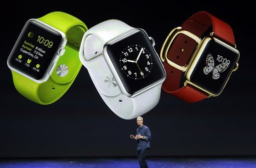 AP Photo/Marcio Jose SanchezApple CEO Tim Cook discusses the new Apple Watch on Tuesday