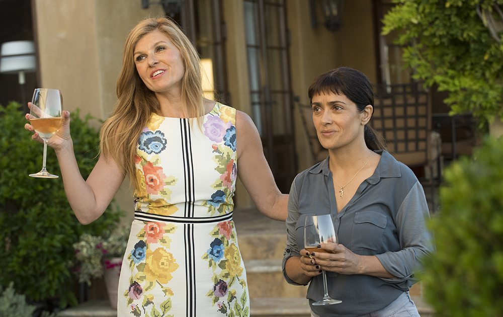 """Connie Britton, left, and Salma Hayek appear in the engaging """"Beatriz at Dinner."""" (Courtesy Roadside Attractions)"""