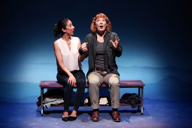 """Sarah Nina Hayon, left, and Lisa Anne Porter are excellent in Magic Theatre's """"Bright Half Life."""" (Courtesy Jennifer Reiley)"""