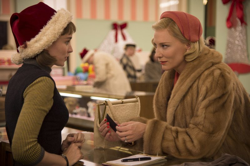 """Rooney Mara, left, and Cate Blanchett star in the powerful """"Carol."""" (Courtesy The Weinstein Company.)"""