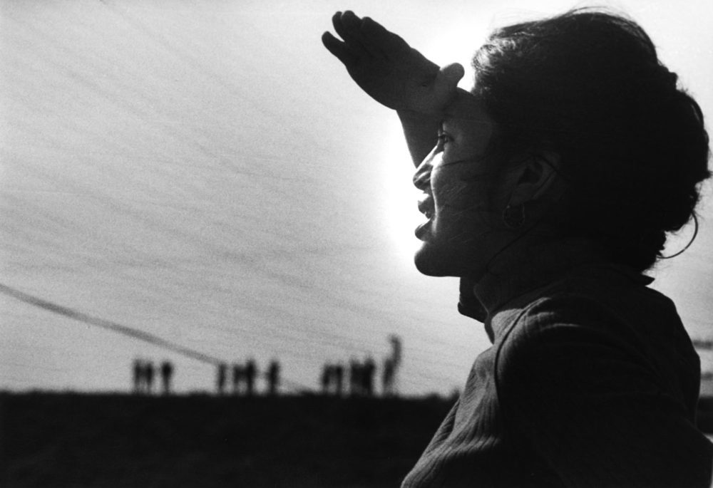 Activist Dolores Huerta, pictured at the Delano Strike in 1966, is the subject of an overdue documentary. (Courtesy Jon Lewis, LeRoy Chatfield)