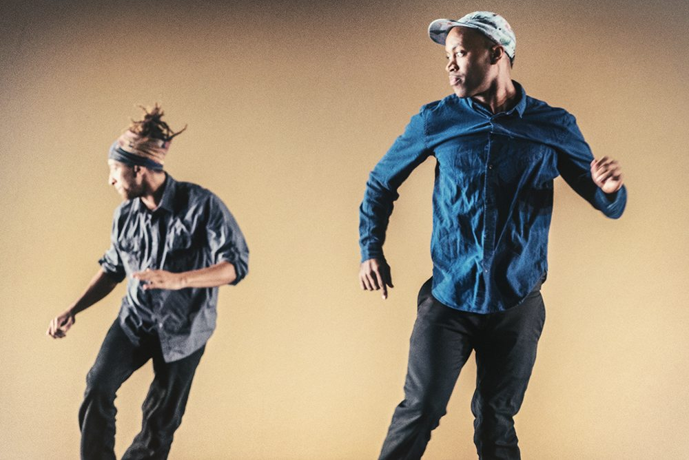 "Dante ""Animal"" Rose, left, and Rama Mahesh Hall dance with Embodiment Project, which presents ""Seed Language"" at ODC Theatre. (Courtesy Andrew Weeks)"