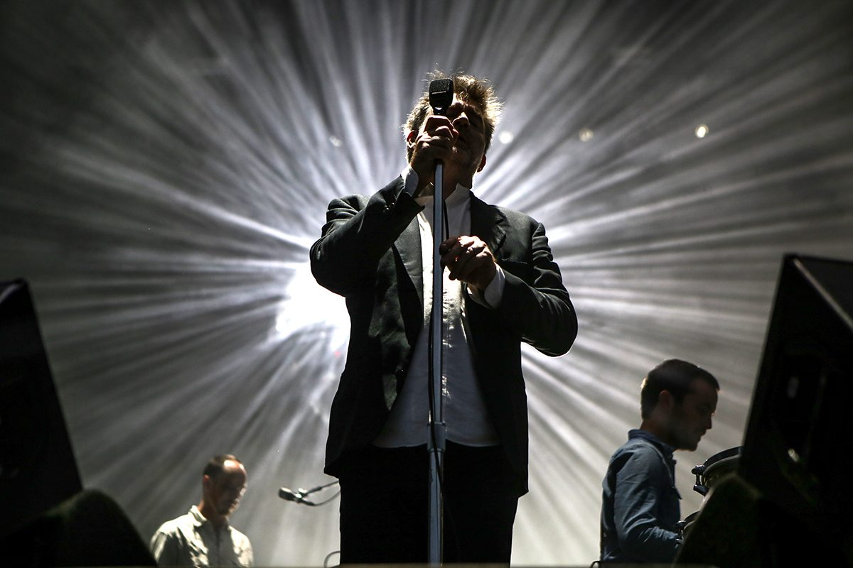 Headliners LCD Soundsystem (vocalist James Murphy is pictured) played every tune a fan could ask for at the first day of Outside Lands 2016.  (Joel Angel Juárez/Special to S.F. Examiner)