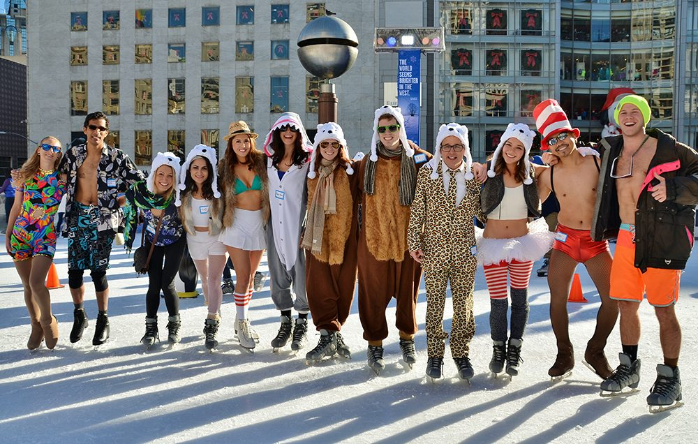 The New Year's Polar Bear Skate happens in the Safeway Holiday Ice Rink in Union Square. (Courtesy photo)