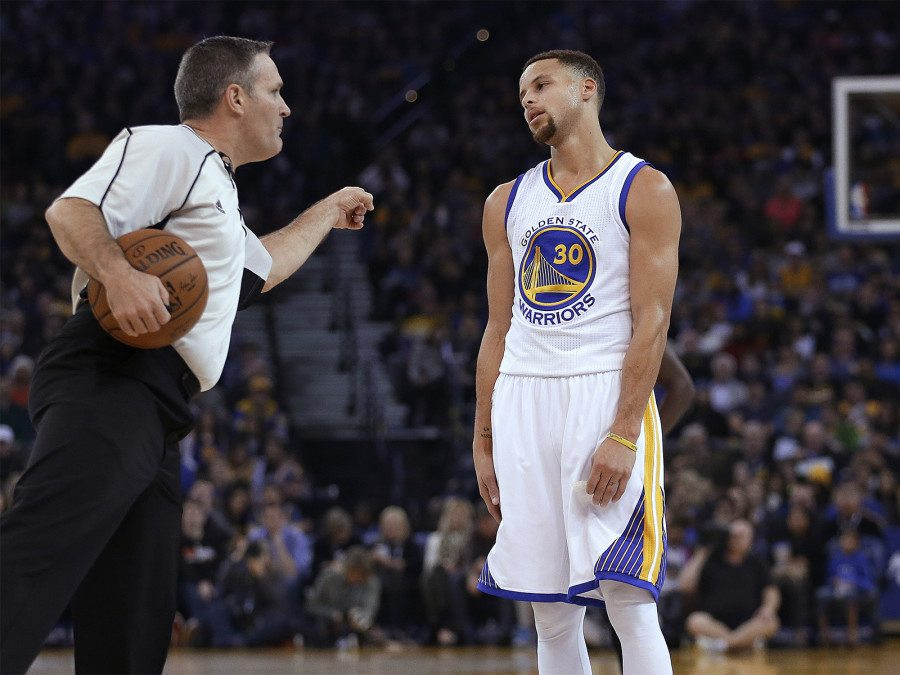 Reigning MVP Stephen Curry could miss Wednesday night's game in Dallas against the Mavericks due to a left lower leg injury suffered during Monday night's victory over the Sacramento Kings. (Ben Margot/AP)