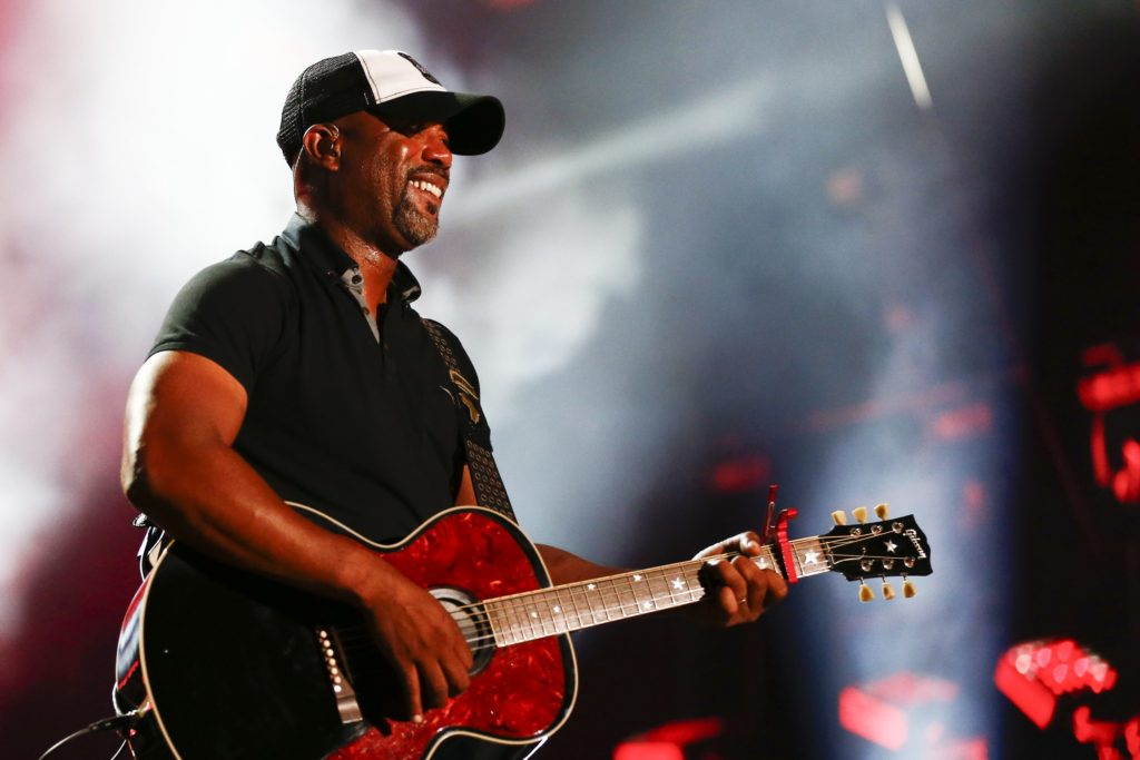 Darius Rucker performs at LP Field at the CMA Music Festival. (Photo by Al Wagner/Invision/AP)