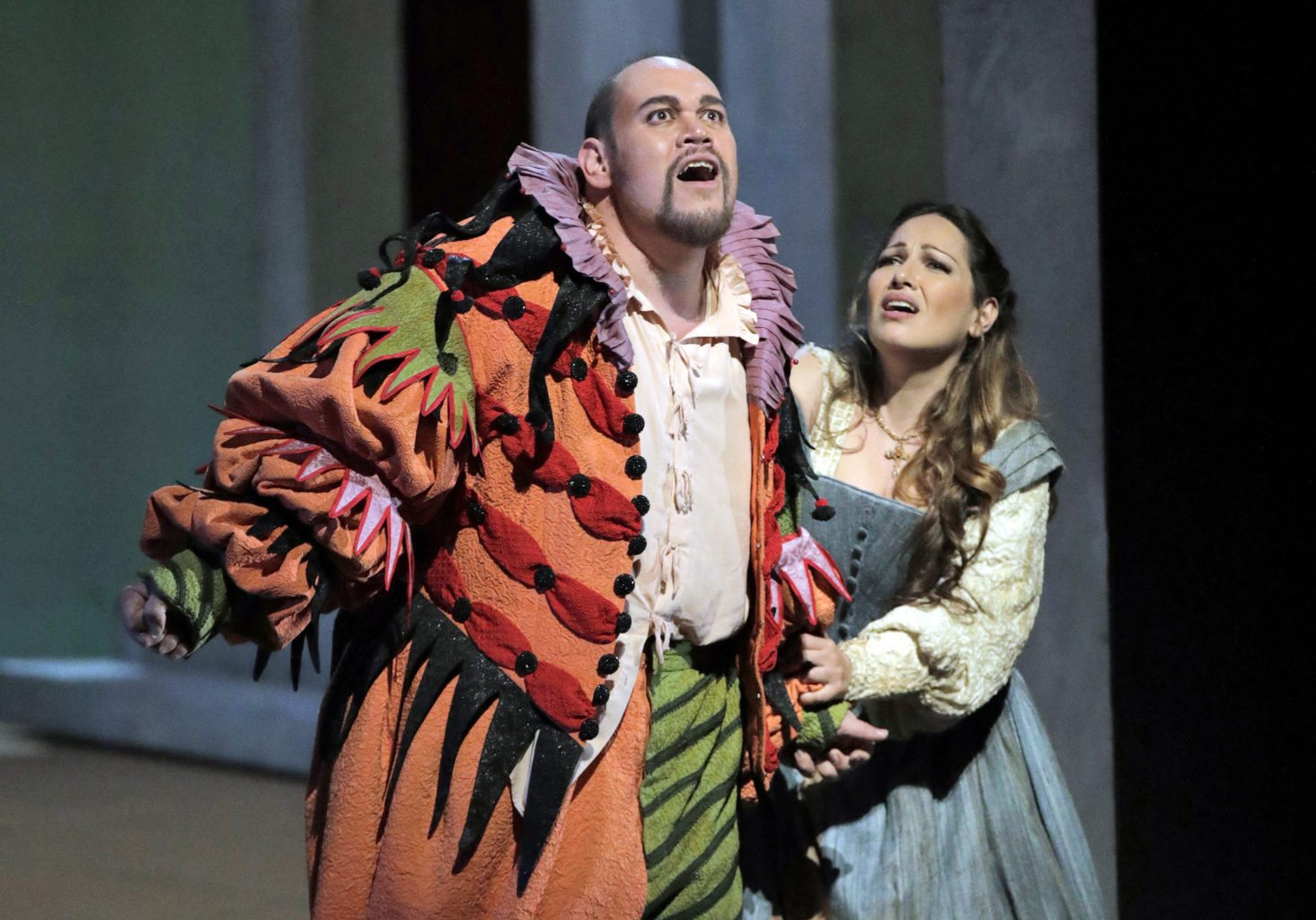"Quinn Kelsey and Nino Machaidze are excellent in San Francisco Opera's ""Rigoletto."" (Courtesy Cory Weaver/San Francisco Opera)"