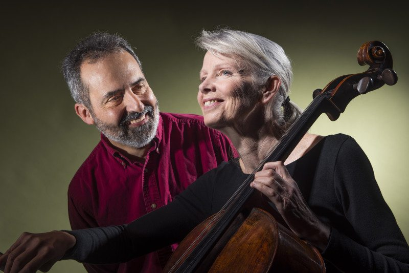 """Charlie Varon and Jean Jeanrenaud appear in """"Second Time Around, A Duet for Cello and Storyteller"""" at the Marsh. (Courtesy David Allen)"""