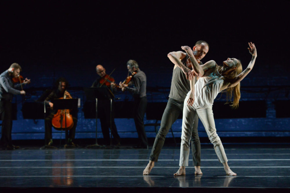 Wendy Whelan, Brian Brooks and the chamber group Brooklyn Rider appear in a San Francisco Performances presentation. (Courtesy Nir Arieli)