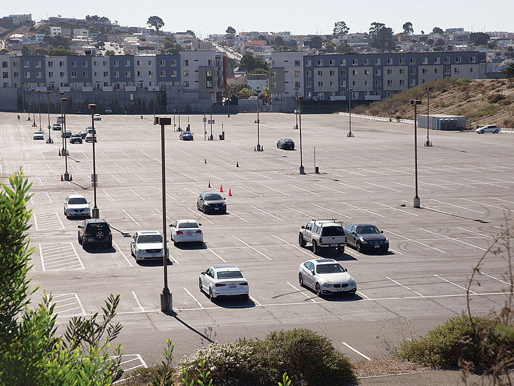 The proposed Balboa Reservoir housing development would include up to 1,100 homes. (Daniel Kim/Special to S.F. Examiner)