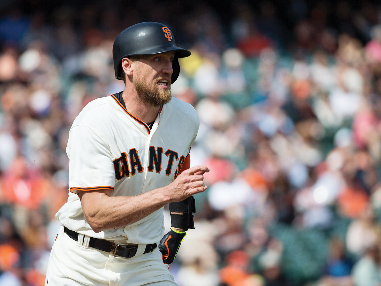 Hunter Pence had a home run and an RBI double for the Giants on Tuesday. (Stan Olszewski/Special to S.F. Examiner)