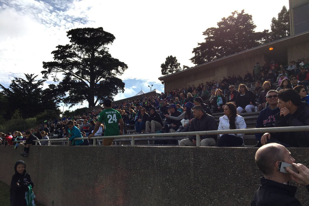 Boxer Stadium during a San Francisco Glens soccer match in 2018. (Courtesy / SF Glens)