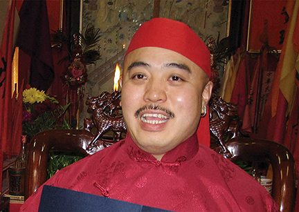 "Raymond ""Shrimp Boy"" Chow, at a ceremony inside the Ghee Kung Tong, which he headed as its dragon head. Chow was made head of the fraternal organization in 2006. (Courtesy/Chow's legal team)"