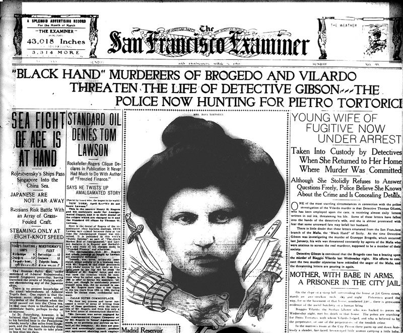 The San Francisco Examiner was so enthralled with the murder of Biaggio Vilardo that it enlisted three bloodhounds to track the scent of blood from Vilardo's severed head.