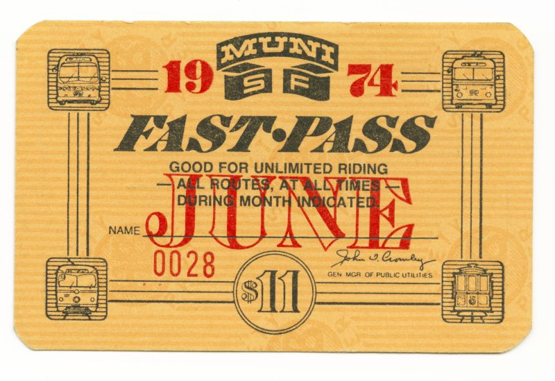 Over the years, Muni Fast Passes have inspired a wide range of artistic creations. (Courtesy SFMTA)