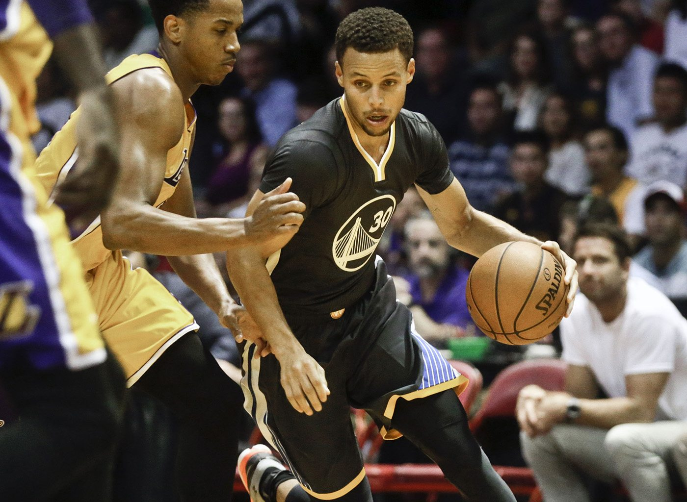 Fresh off an NBA championship, reigning MVP Stephen Curry and the Golden State Warriors will have to put together another special season — and stay healthy — if they hope to defend their title.  (AP Photo/Lenny Ignelzi)