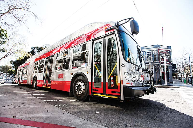 New buses bought by Muni from New Flyer Industries failed acceleration tests according to an internal memo reported on last week. (Ekevara Kitpowsong/ Special to S.F. Examiner)