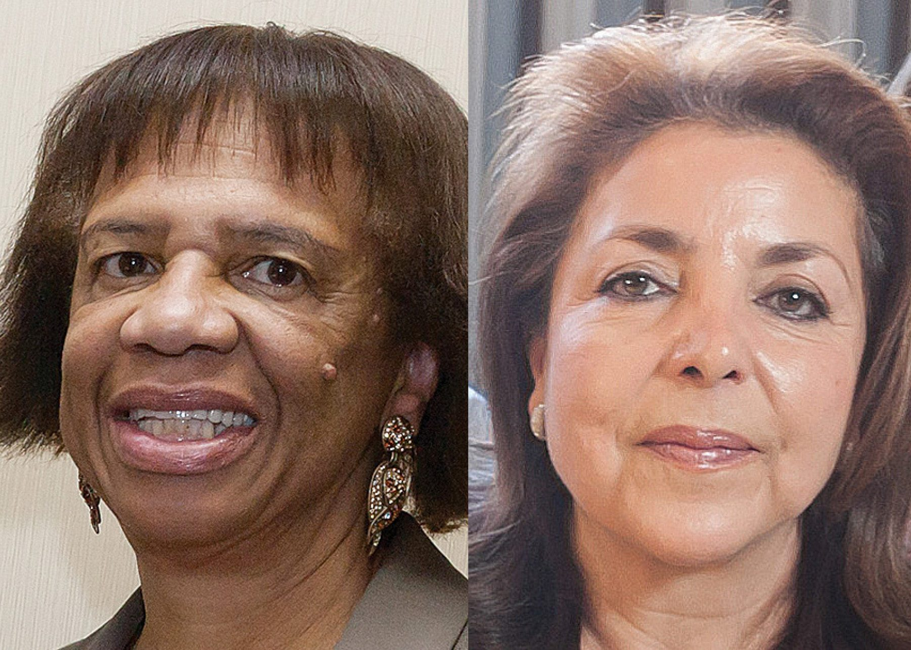 Former Human Rights Commissioner Nazly Mohajer, former commission staffer Zula Jones (both pictured), and former school board member Keith Jackson were all charged with bribery in January in San Francisco Superior Court. (Courtesy photos)