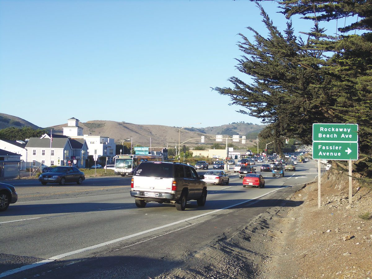 Caltrans has proposed widening a 1.3-mile stretch of Highway 1 in Pacifica. (Brendan Bartholomew/Special to S.F. Examiner)