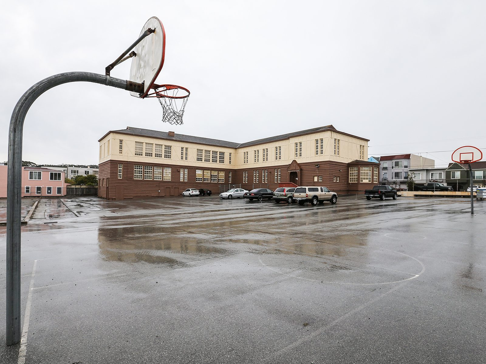 The city of San Francisco Parks to Pavement program plans to transform the site of Francis Scott Key School into a community resource with a community garden, a skate park, improved basketball courts and a host of other play and community areas. (Mike Koozmin/S.F. Examiner)