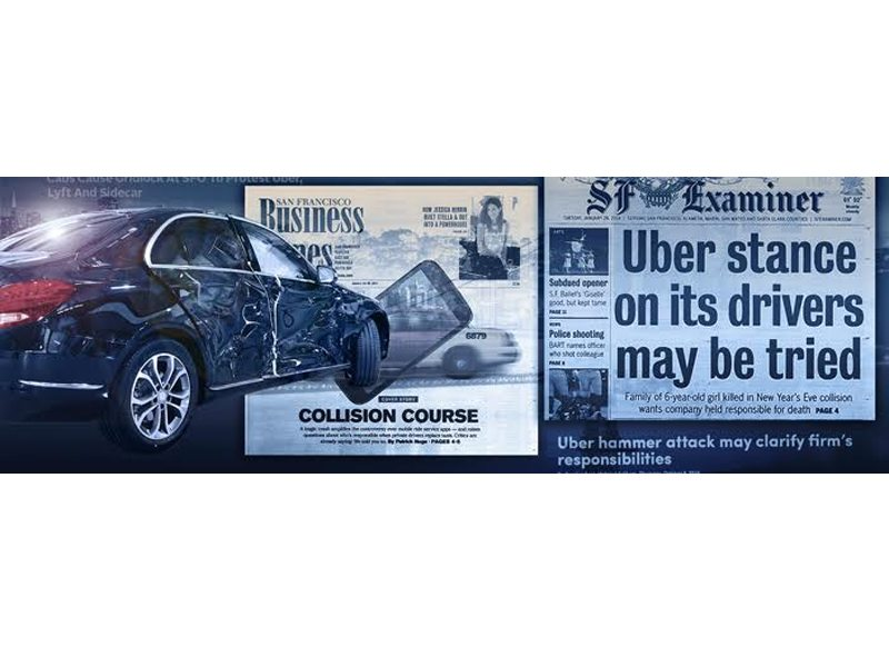 "A Labor Commission's ruling on a case where an Uber driver was named an ""employee"" doesn't apply to all drivers. (Courtesy Dolan Law Firm)"
