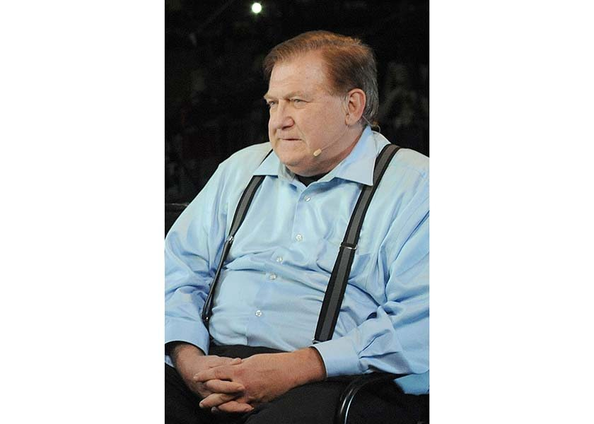 """Bob Beckel, on Oct. 7, 2011, during the the 15th anniversary of """"Hannity"""" in Atlanta, Ga. Beckel was fired by Fox News on Friday. (CErik Lesser/Zuma Press/TNS)"""