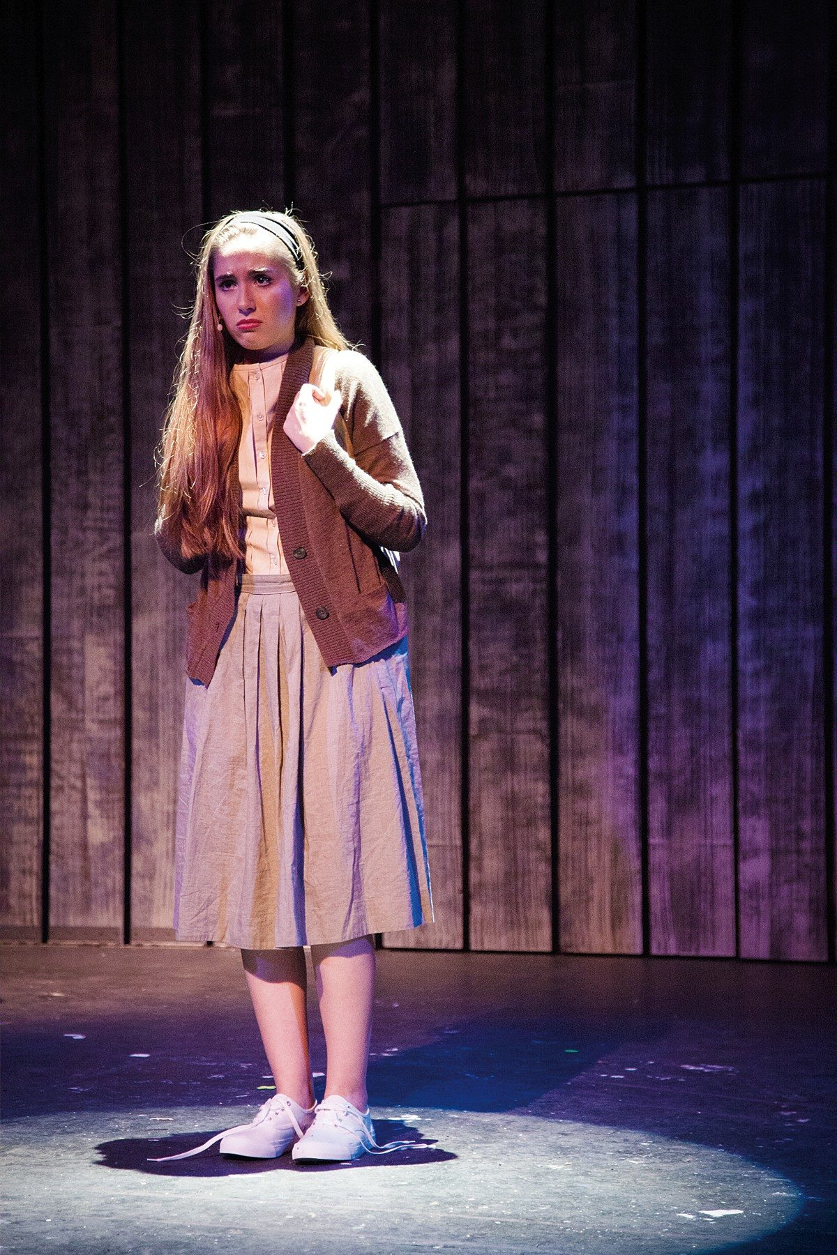 """Cristina Ann Oeschger is excellent as the title character in Ray of Light Theatre's """"Carrie the Musical."""""""