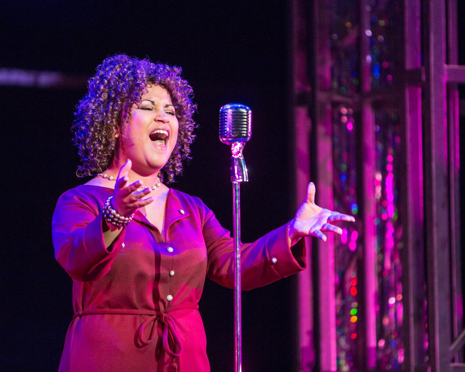 "COURTESY MARK KITAOKA AND TRACY MARTINMiranda D. Lawson shines as Effie in Broadway By the Bay's production of the hit musical ""Dreamgirls."""